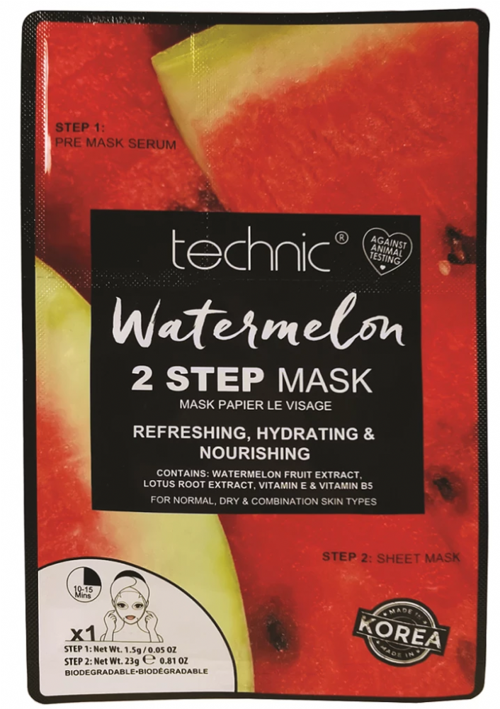 Technic Watermelon Two Step Face Mask